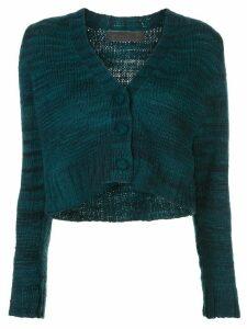 The Elder Statesman knit cashmere cardigan - Blue
