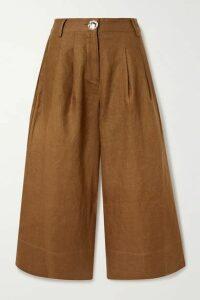 NICHOLAS - Varca Linen Wide-leg Pants - Brown