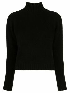 The Elder Statesman Highland cropped jumper - Black