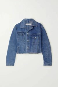 E.L.V. Denim - The Twin Cropped Vintage Match Distressed Denim Jacket - Mid denim