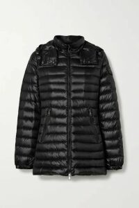Moncler - Menthe Hooded Quilted Shell Down Jacket - Black