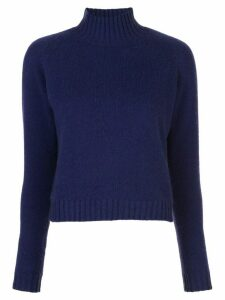 The Elder Statesman cropped cashmere jumper - Blue