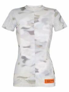 Heron Preston camouflage-print mesh T-shirt - Grey