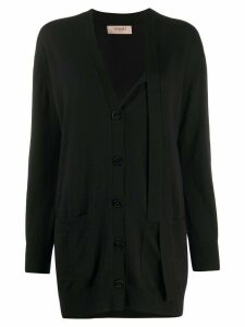 Twin-Set v-neck knit cardigan - Black