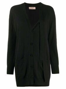 Twin-Set v-neck knit cardigan - Black