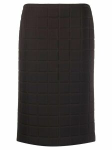 Bottega Veneta quilted straight skirt - Brown