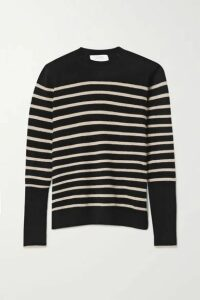 La Ligne - Aaa Lean Lines Striped Cashmere Sweater - Black