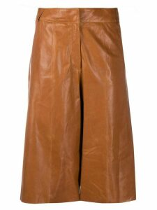 Arma high rise cropped trousers - Brown