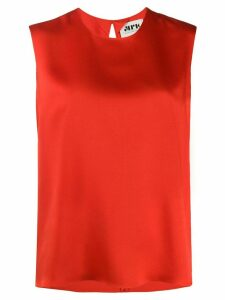 Maison Rabih Kayrouz sleeveless round neck top - Red