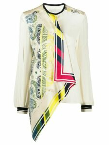 Golden Goose printed asymmetric blouse - NEUTRALS
