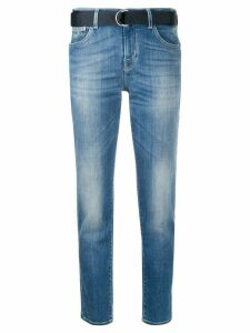 Jacob Cohen belted slim-fit jeans - Blue