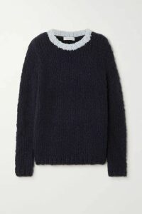 Gabriela Hearst - + Net Sustain Lawrence Two-tone Cashmere Sweater - Navy