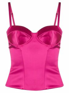 P.A.R.O.S.H. fitted cropped bustier top - PINK