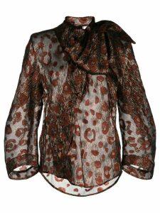 Petar Petrov floral jacquard blouse - Black