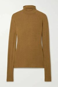 Totême - Arenzano Stretch-knit Turtleneck Sweater - Tan