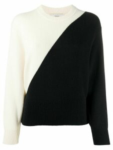 Pringle of Scotland two-tone crew neck sweater - White