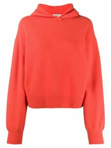 Pringle of Scotland relaxed hooded sweater - ORANGE