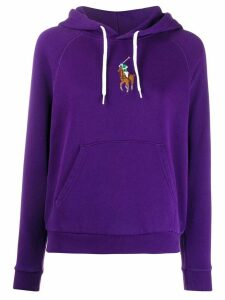 Polo Ralph Lauren embroidered Pony relaxed-fit hoodie - PURPLE