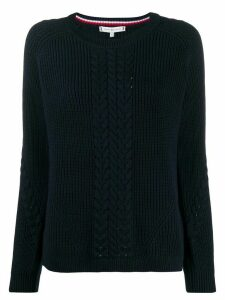 Tommy Hilfiger cable-knit jumper - Blue