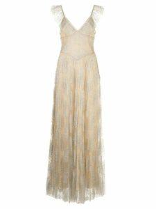 Fleur Du Mal Pleated Tulle gown - NEUTRALS