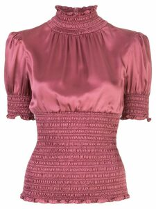 Cinq A Sept Sheila smocked top - PINK