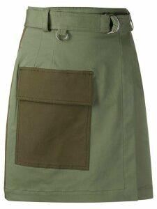 MSGM utility wrap skirt - Green