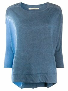 Raquel Allegra Cocoon three-quarter sleeved top - Blue