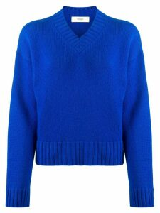 Pringle of Scotland v-neck dropped-shoulder sweater - Blue