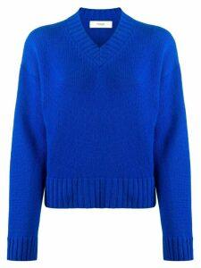 Pringle of Scotland v-neck dropped-shoulder sweater - Blue
