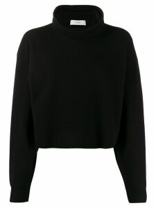 Pringle of Scotland cropped roll-neck sweater - Black