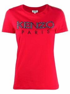 Kenzo patchwork logo crew neck T-shirt - Red