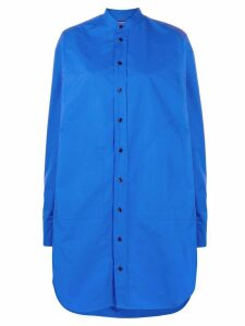 colville oversized long-sleeve shirt - Blue