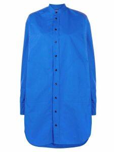 colville oversized long-sleeve shirt - Blue