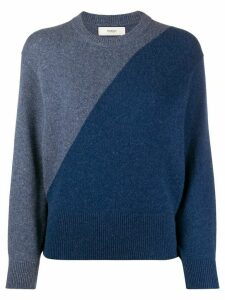 Pringle of Scotland two-tone blouson-sleeved sweater - Blue