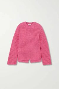 By Malene Birger - + Net Sustain Nosema Open-back Alpaca-blend Sweater - Magenta