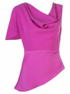 Fleur Du Mal asymmetrical cowl-neck blouse - PINK