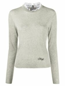 Philosophy Di Lorenzo Serafini double collar jumper - Grey