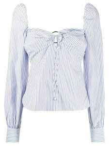 Jonathan Simkhai striped button-through top - Blue