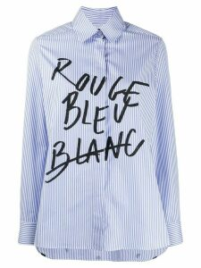 Être Cécile written striped shirt - Blue