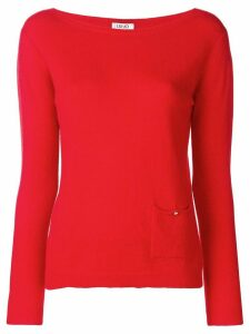 LIU JO boat neck sweater - Red