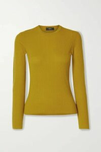 Theory - Mirzi Ribbed Merino Wool-blend Sweater - Yellow