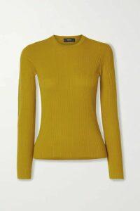 Theory - Mirzi Ribbed Merino Wool-blend Sweater - Yellow