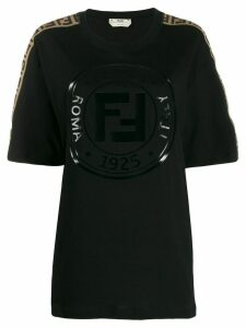 Fendi logo-trimmed T-shirt - Black
