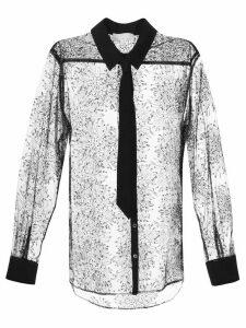 Fleur Du Mal Tulle Tuxedo shirt - Black