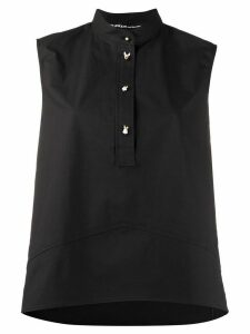Pinko flared henley top - Black