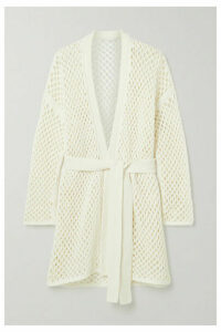 Agnona - Belted Open-knit Cardigan - White