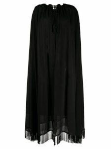Saint Laurent decorative tassels crêpe cape - Black