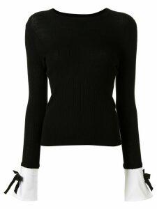 Paule Ka cuff detail jumper - Black