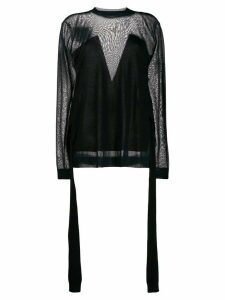 Nina Ricci sheer knit jumper - Black