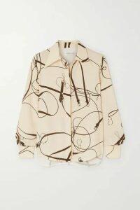Victoria Beckham - Printed Crepe Blouse - Cream